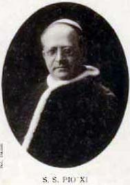 9kb jpg holy card of Pope Pius XI